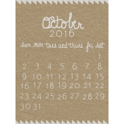 Toolbox Calendar- October Written Journal Card