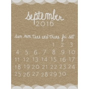 Toolbox Calendar- September Written Journal Card