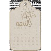 Toolbox Calendar- April Doodle Date Tag