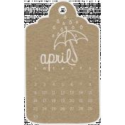 Toolbox Calendar- April Doodle Date Tag 2