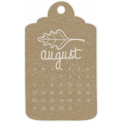 Toolbox Calendar- August Doodle Date Tag 2