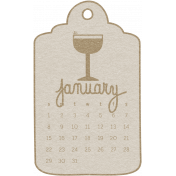 Toolbox Calendar- January Doodle Date Tag