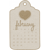 Toolbox Calendar- February Doodle Date Tag