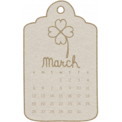 Toolbox Calendar- March Doodle Date Tag