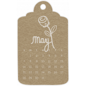Toolbox Calendar- May Doodle Date Tag 2