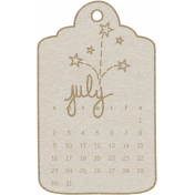 Toolbox Calendar- July Doodle Date Tag