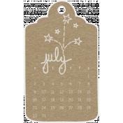 Toolbox Calendar- July Doodle Date Tag 2