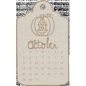 Toolbox Calendar- October Doodle Date Tag