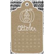 Toolbox Calendar- October Doodle Date Tag 2