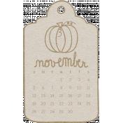 Toolbox Calendar- November Doodle Date Tag