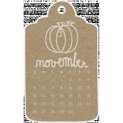 Toolbox Calendar- November Doodle Date Tag 2