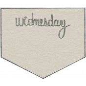 Toolbox Calendar- Wednesday Metal Doodle