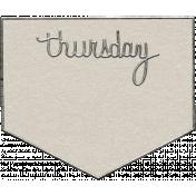 Toolbox Calendar- Thursday Metal Doodle