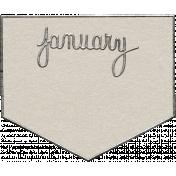 Toolbox Calendar- January Metal Doodle