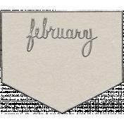 Toolbox Calendar- February Metal Doodle