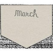 Toolbox Calendar- March Metal Doodle