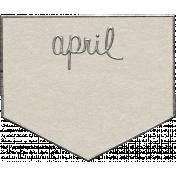 Toolbox Calendar- April Metal Doodle