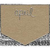 Toolbox Calendar- April Metal Doodle 2