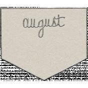 Toolbox Calendar- August Metal Doodle
