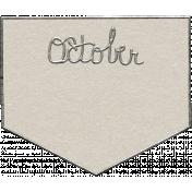 Toolbox Calendar- October Metal Doodle