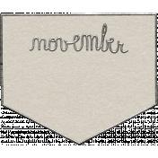 Toolbox Calendar- November Metal Doodle