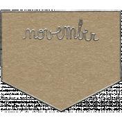 Toolbox Calendar- November Metal Doodle 2