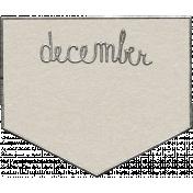 Toolbox Calendar- December Metal Doodle