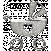 Toolbox Calendar- Metal Baby Stroller Doodle