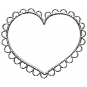 Toolbox Calendar Scalloped Heart Doodle