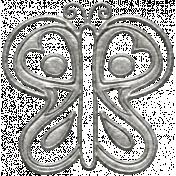 Toolbox Calendar- Metal Butterfly Doodle