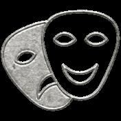 Toolbox Calendar- Metal Theatre Masks Doodle