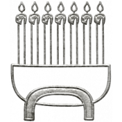 Toolbox Calendar- Metal Menorah Doodle