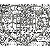 Toolbox Calendar- Metal Heart Mom Doodle