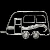 Toolbox Calendar- Metal Camper Doodle