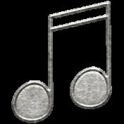 Toolbox Calendar- Metal Music Notes Doodle 3