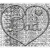 Toolbox Calendar- Metal Heart Dad Doodle