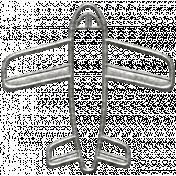 Toolbox Calendar- Metal Airplane Doodle