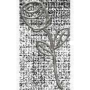 Toolbox Calendar- Metal Flower Doodle