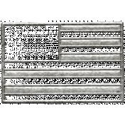 Toolbox Calendar- Metal Flag Doodle