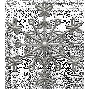 Toolbox Calendar- Metal Ornate Snowflake Doodle