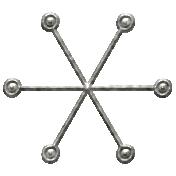 Toolbox Calendar- Metal Small Snowflake Doodle