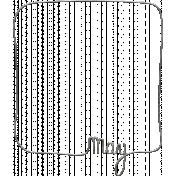Toolbox Calendar- Metal Month Doodle Frame- May