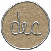 Toolbox Calendar 2- December Metal Doodle Circle 2