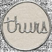 Toolbox Calendar 2- Thursday Metal Doodle Circle