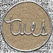 Toolbox Calendar 2- Tuesday Metal Doodle Circle 2