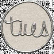 Toolbox Calendar 2- Tuesday Metal Doodle Circle