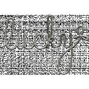 Toolbox Calendar- Metal Word Art- Lucky