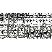 Toolbox Calendar- Metal Word Art- Love