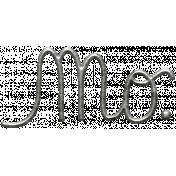 Toolbox Calendar- Metal Word Art- Month (Abbreviated)