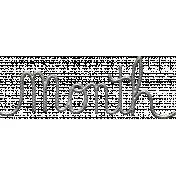 Toolbox Calendar- Metal Word Art- Month